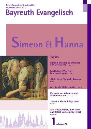 Simeon & Hanna - Evangelisch im Bayreuther Land
