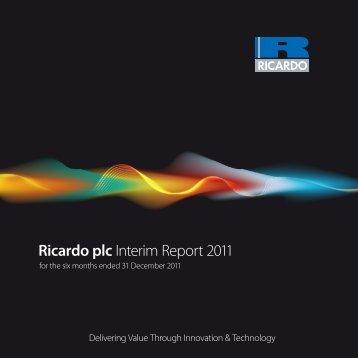 Ricardo plc Interim Report 2011