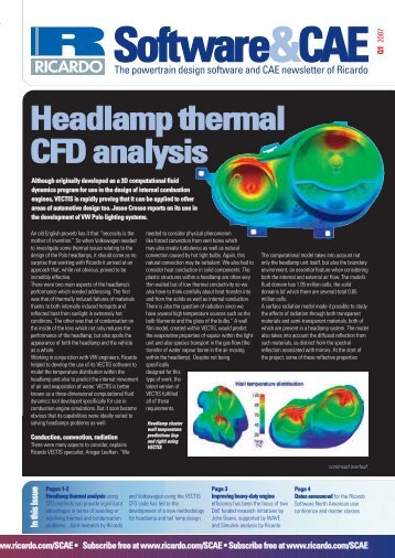 Headlamp thermal analysis - Ricardo