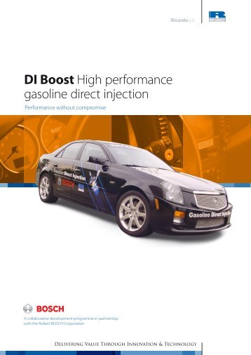 DI Boost High performance gasoline direct injection - Ricardo