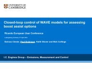 Closed-loop control of WAVE models for assessing boost ... - Ricardo