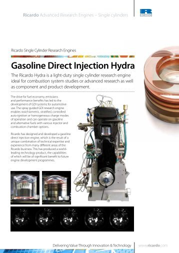 Gasoline Direct Injection Hydra - Ricardo