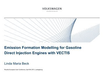 Emission Formation Modelling for Gasoline Direct Injection ... - Ricardo