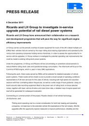 Ricardo and LH Group to investigate in-service upgrade potential of ...