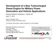 Development of a New Turbocharged Diesel Engine for ... - Ricardo