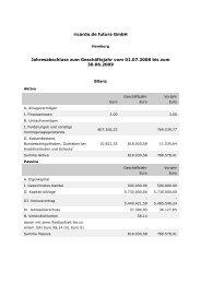 Ricardo.de future GmbH Jahresabschluss per 30.06.2009
