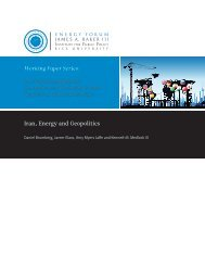 Iran, Energy and Geopolitics - James A. Baker III Institute for Public ...