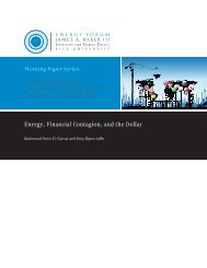 Energy, Financial Contagion, and the Dollar - James A. Baker III ...