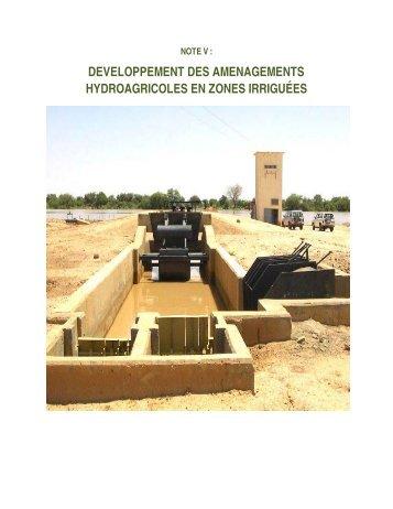 developpement des amenagements hydroagricoles en zones ...