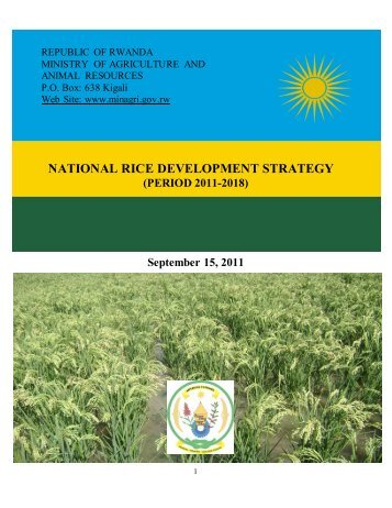 Ministry of Agriculture NRDS - Coalition for African Rice Development