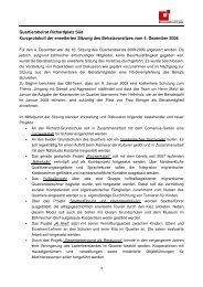 Bericht von der 10. Sitzung am 4. Dezember 2008
