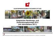 und Entwicklungskonzept 2012 - Quartiersmanagement ...
