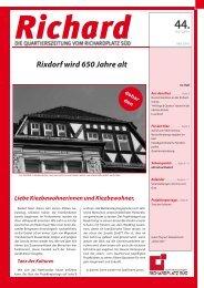 Richard 31 - Quartiersmanagement Richardplatz Süd