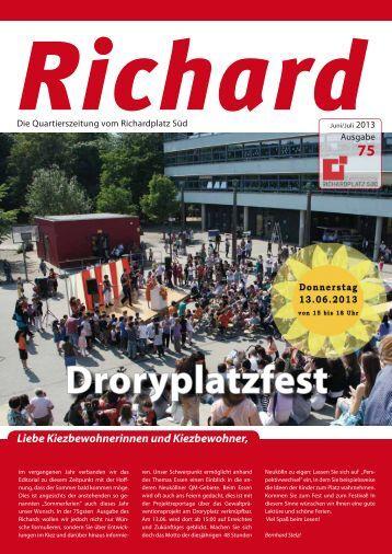 """Richard"" - 75. Ausgabe, Juni -Juli 2013 - Quartiersmanagement ..."