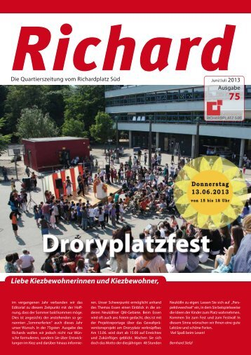 """Richard"" - 75. Ausgabe, Juni -Juli 2013 - Quartiersmanagement ..."