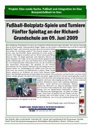 Grundschule am 09. Juni 2009 - Quartiersmanagement Richardplatz ...
