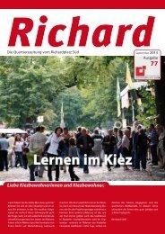77. Ausgabe - Quartiersmanagement Richardplatz Süd