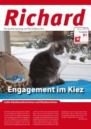 Engagement im Kiez - Quartiersmanagement Richardplatz Süd