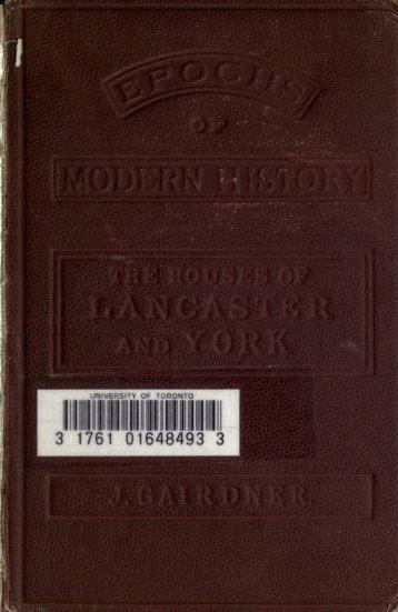 Houses of Lancaster and York Gairdner - Richard III Society - New ...