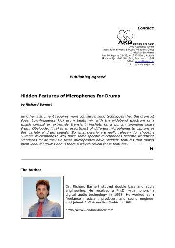 Hidden Features of Drum Microphones - Richard Barnert Homepage