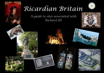 Ricardian Britain Booklet - Richard III Society