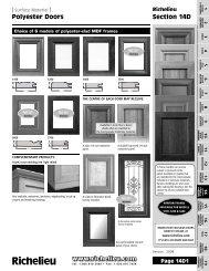Polyester Doors Section 14D - Richelieu
