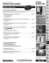 Tambour Door Systems Section 14E - Richelieu