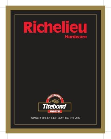 Canada: 1-800-361-6000 USA: 1-800-619-5446 - Richelieu