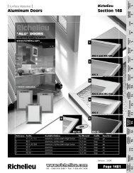 Aluminum Doors Section 14B - Richelieu