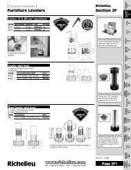 Section 02F: Furniture Levelers - Richelieu