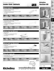 Section 6D Under-Sink Cabinets - Richelieu