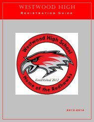 Westwood Registration 2013 - Richland School District Two!
