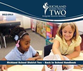 Richland School District Two • Back to School Handbook