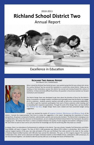 Annual Report - Richland School District Two!