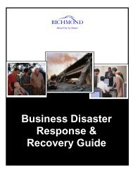 Business Disaster Response/Recovery Guide - City of Richmond