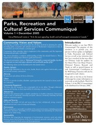 Parks, Recreation and Cultural Services ... - City of Richmond