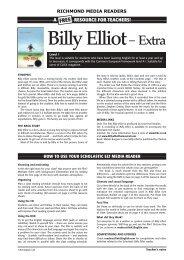 Billy Elliot– Extra - Richmond