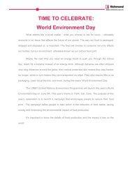 TIME TO CELEBRATE: World Environment Day - Richmond