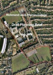 Richmond College planning brief - London Borough of Richmond ...