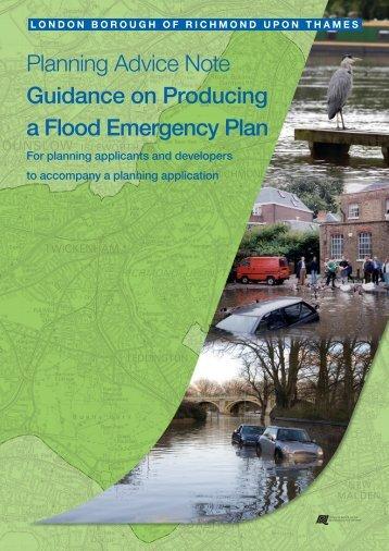 Guidance on producing a flood emergency plan - London Borough ...