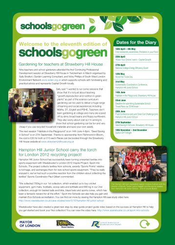 Schools Go Green Newsletter - London Borough of Richmond upon ...