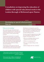 Consultation document - London Borough of Richmond upon Thames