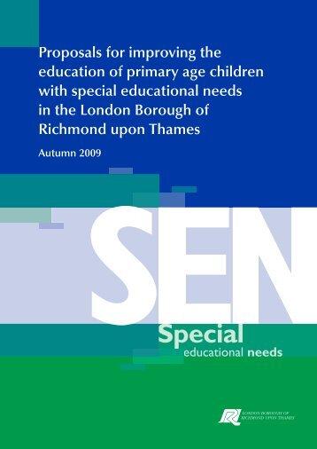 Proposals under consultation - London Borough of Richmond upon ...