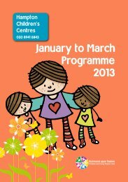 January to March Programme 2013