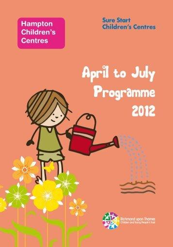 Hampton CC programme April-July