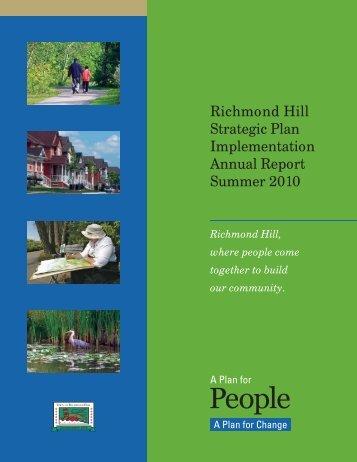 Richmond Hill Strategic Plan Implementation Annual Report ...