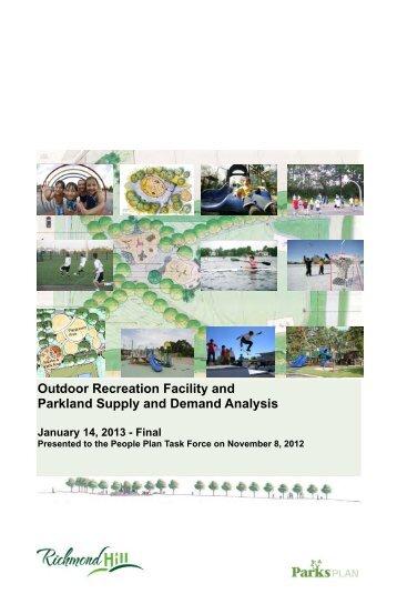 Outdoor Rec Fac & Park Needs Analysis - Town of Richmond Hill