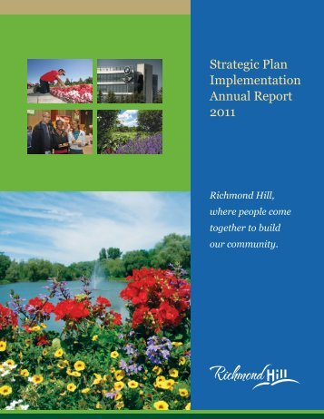 Strategic Plan Implementation Annual Report 2011 [PDF] - Town of ...