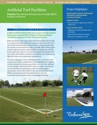 Artificial Turf Facilities - Town of Richmond Hill
