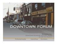 Downtown Forum Presentation - Town of Richmond Hill